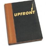 A mock up of the leather-bound Up Front rulebook from the Kickstarter stretch goals.