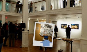 The Meme exhibition at the Herndon Gallery, with the Shakespeare work highlighted