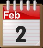 February 2 calendar page