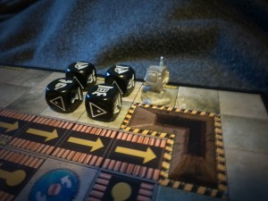 King Twonky and four chess dice pieces