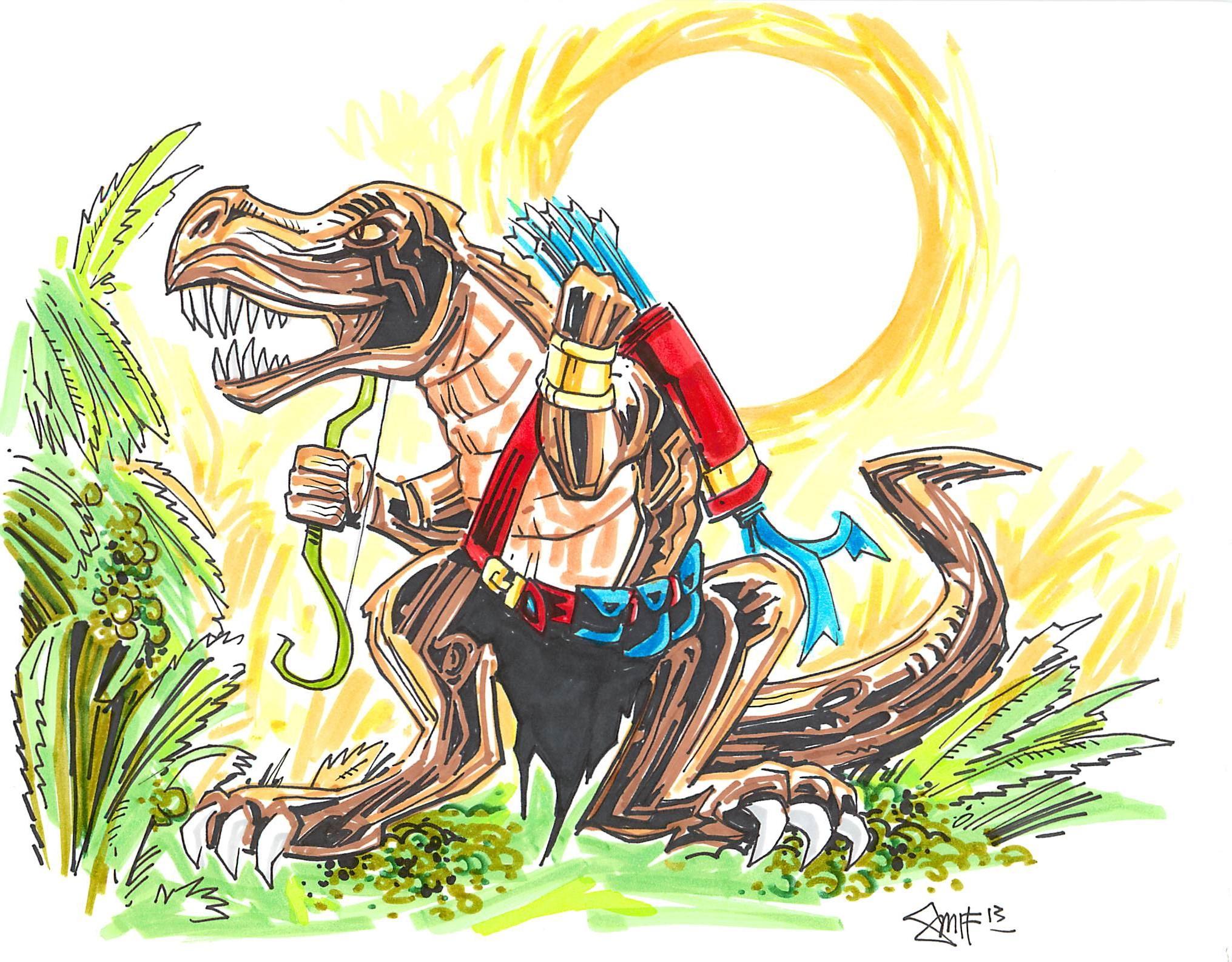The Mighty Weretyrannosaurus for Pathfinder   jhunterj.com